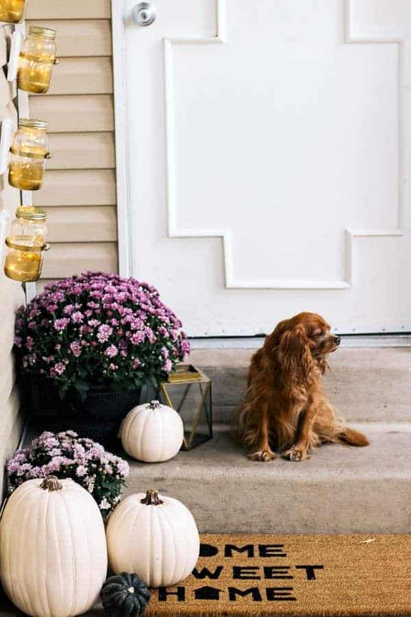 Fall Front Porch from At Home With Ashley