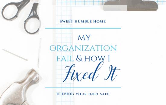 My Organization Fail & How I Fixed It