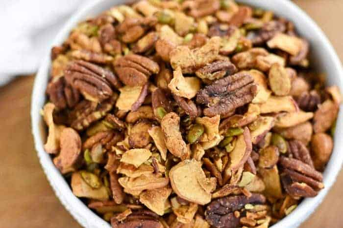 Fall Appetizer Roundup - Apple Cinnamon Grain-Free Granola from Jazzmine at Dash of Jazz