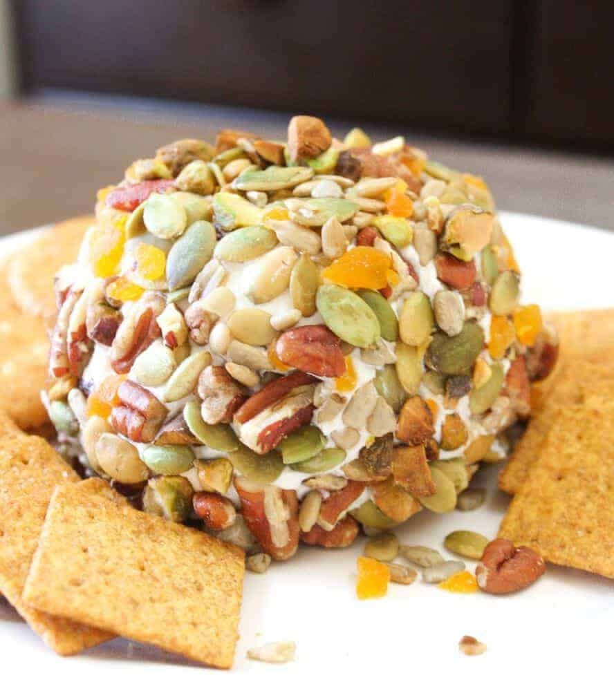 Sweet Humble Home Fall Appetizer Roundup Harvest Cheese Ball by Stephanie at Daily Appetite