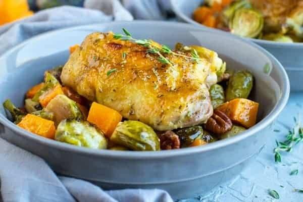 Sweet Humble Home Fall Sheet Pan Dinner Roundup - Maple-Chicken-Brussels-Butternut-6
