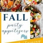 Fall themed appetizers for a party or family gathering - Sweet Humble Home