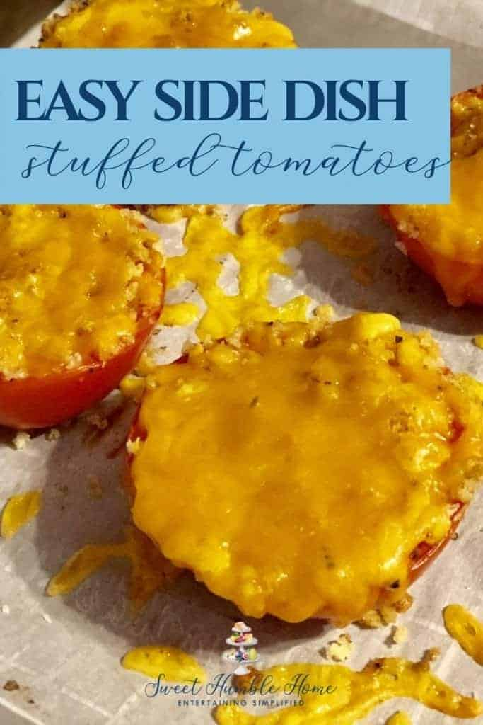 Easy Side Dish - Stuffed tomatoes