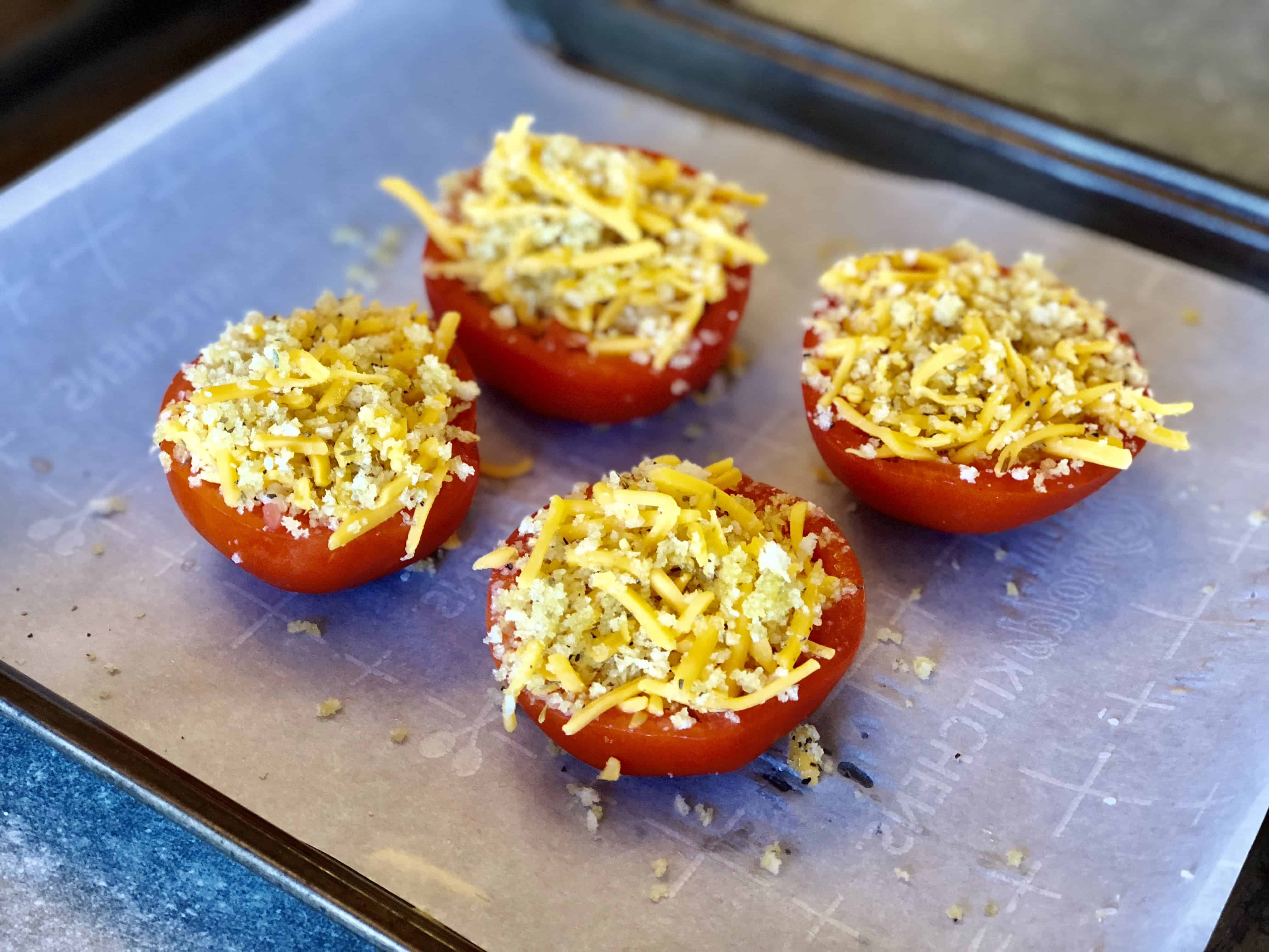 Easy Roasted Stuffed Tomato Side Dish - Sweet Humble Home