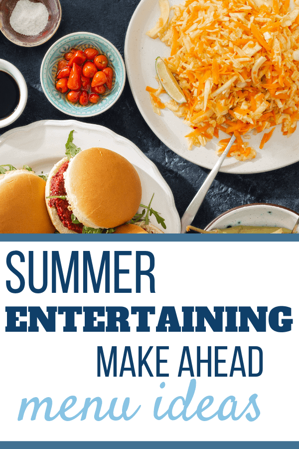 Summer make ahead meals Recipes for entertaining, for families, for a crowd! Use your slow cooker to keep the heat out of your kitchen and enjoy your party! Sweet Humble Home #entertaining, #summerparty, #makeaheadpartyfood, #easysummerfood
