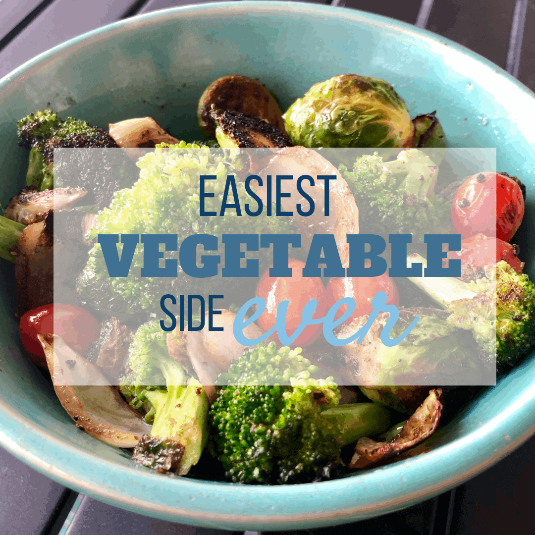 This super healthy, and simple vegetable side dish and can be used to entertain a crowd, or for dinner tonight! The recipe is so versatile, and can be used with so many different vegetable combinations depending on the season! Make ahead and eat them cold, or cook them up hot. A low carb, vegan choice for weeknight meals, holiday dinners, or even BBQ's! My son especially loves when I include the veggies in a kid family version! #cleaneating, #easysides, #vegan, #kidfriendlyfood, #lowcarb, #simple, #veggies, #weeknightmeals, #veggiesides