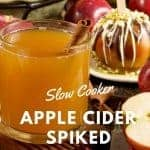 How to make the best hot spiked cider! Hot apple cider spiked with rum!