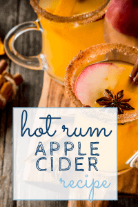 Hot Rum Apple Cider - Sweet Humble Home
