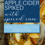 Holiday Hot Apple Cider Spiced with Rum