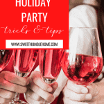 Tips for how to throw a last minute party during the holidays.