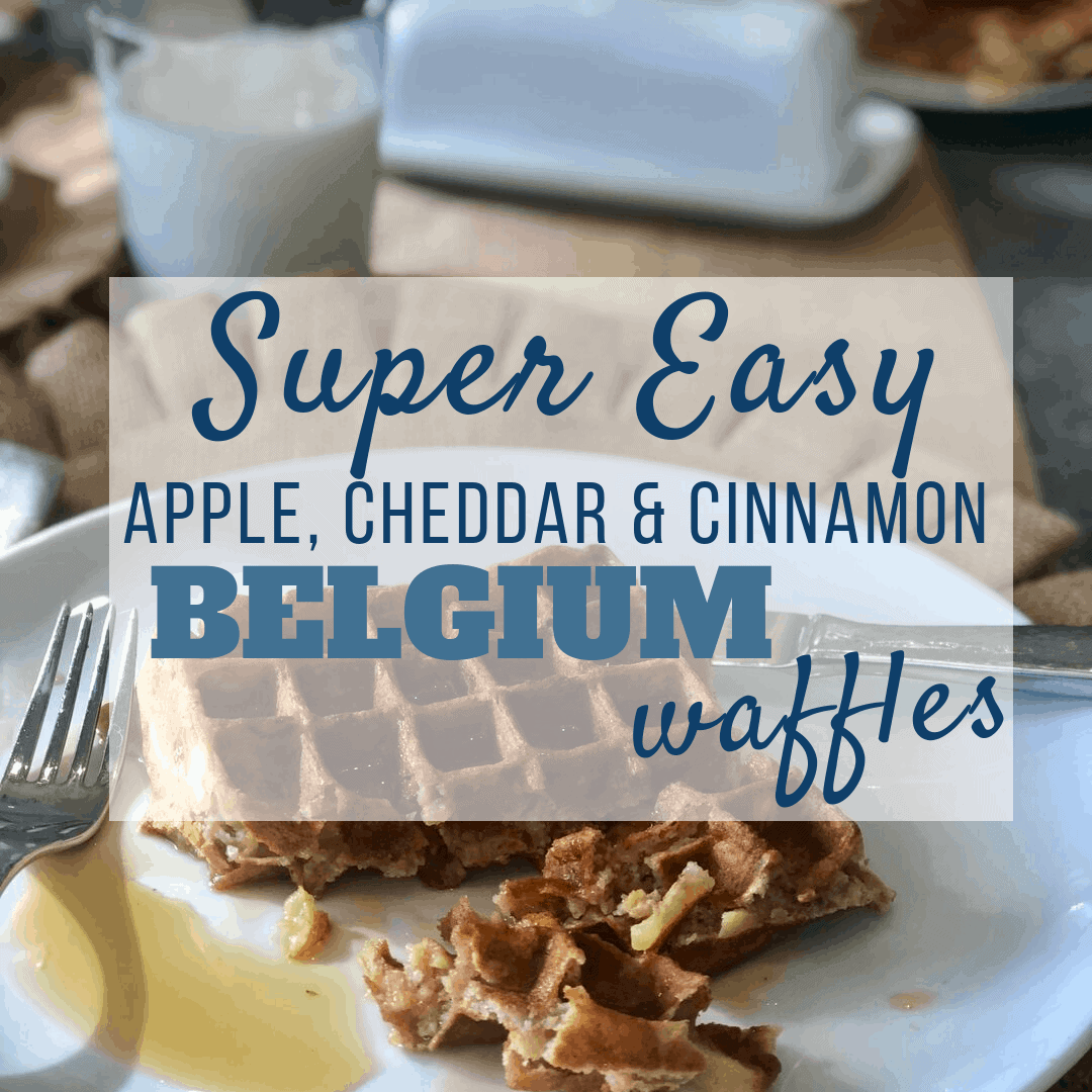 Easy Apple Cheddar Cinnamon Waffles