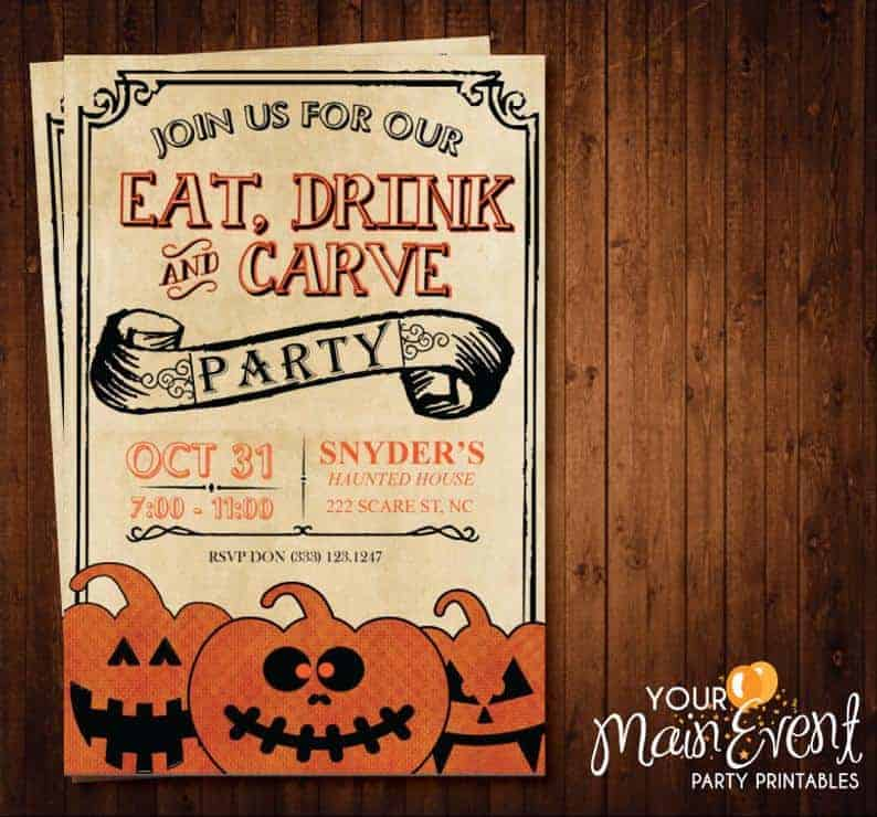 Best Halloween Party Invitations on Etsy - Sweet Humble Home