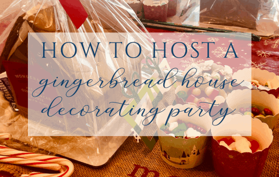 Hosting a Gingerbread House Decorating Party