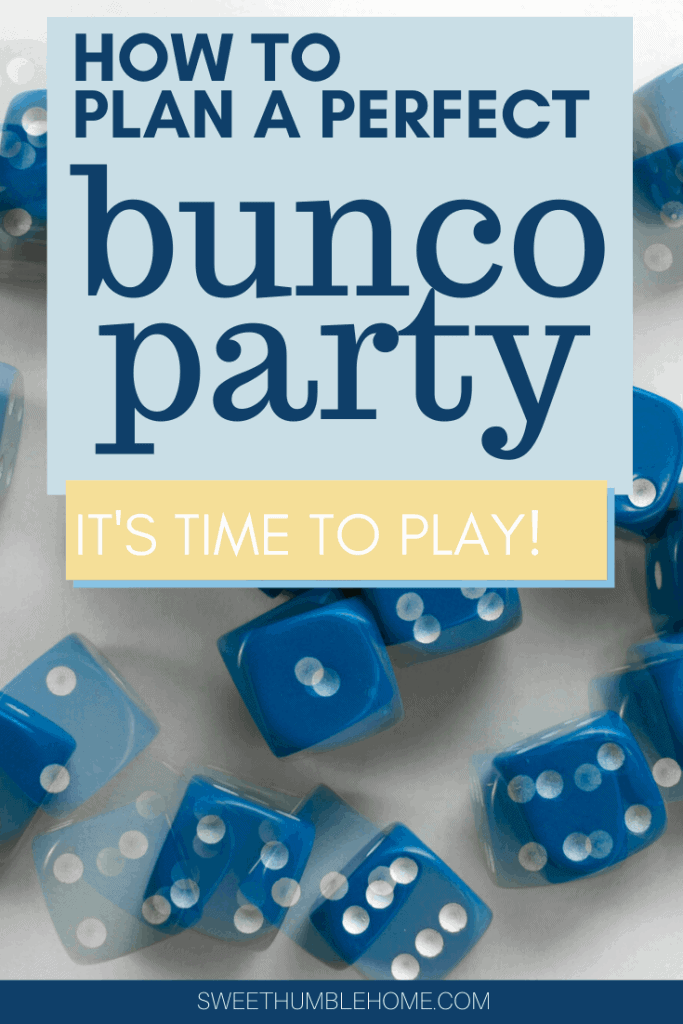 How to plan a Bunco party - Sweet Humble Home