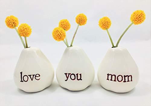 Gift for Mom...LOVE YOU MOM Bud Vases