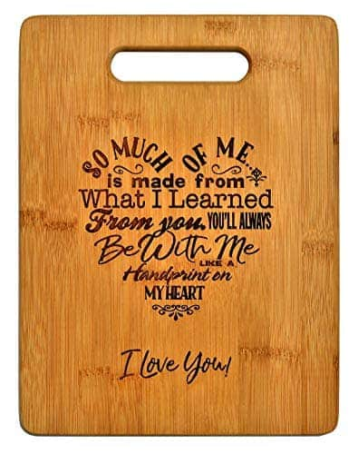 Mothers Gift - Special Love Heart Poem Bamboo Cutting Board