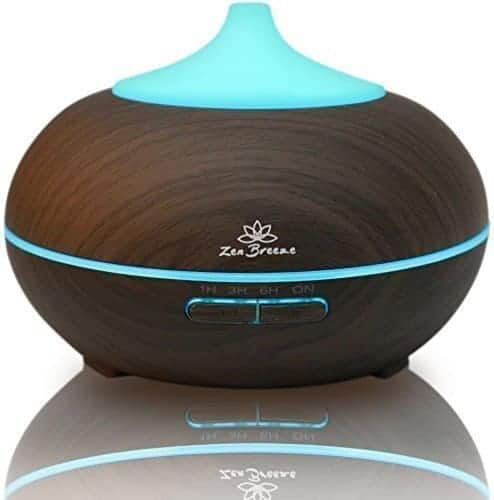 Zen Breeze Essential Oil Diffuser Dark Wood - Aromatherapy Diffuser