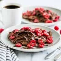 Double Chocolate Gluten Free Crepes