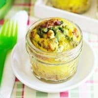 Mini Frittatas in a Jar with Asparagus & Pancetta Recipe