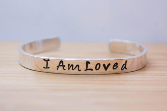 Sterling Silver I Am Loved Bracelet