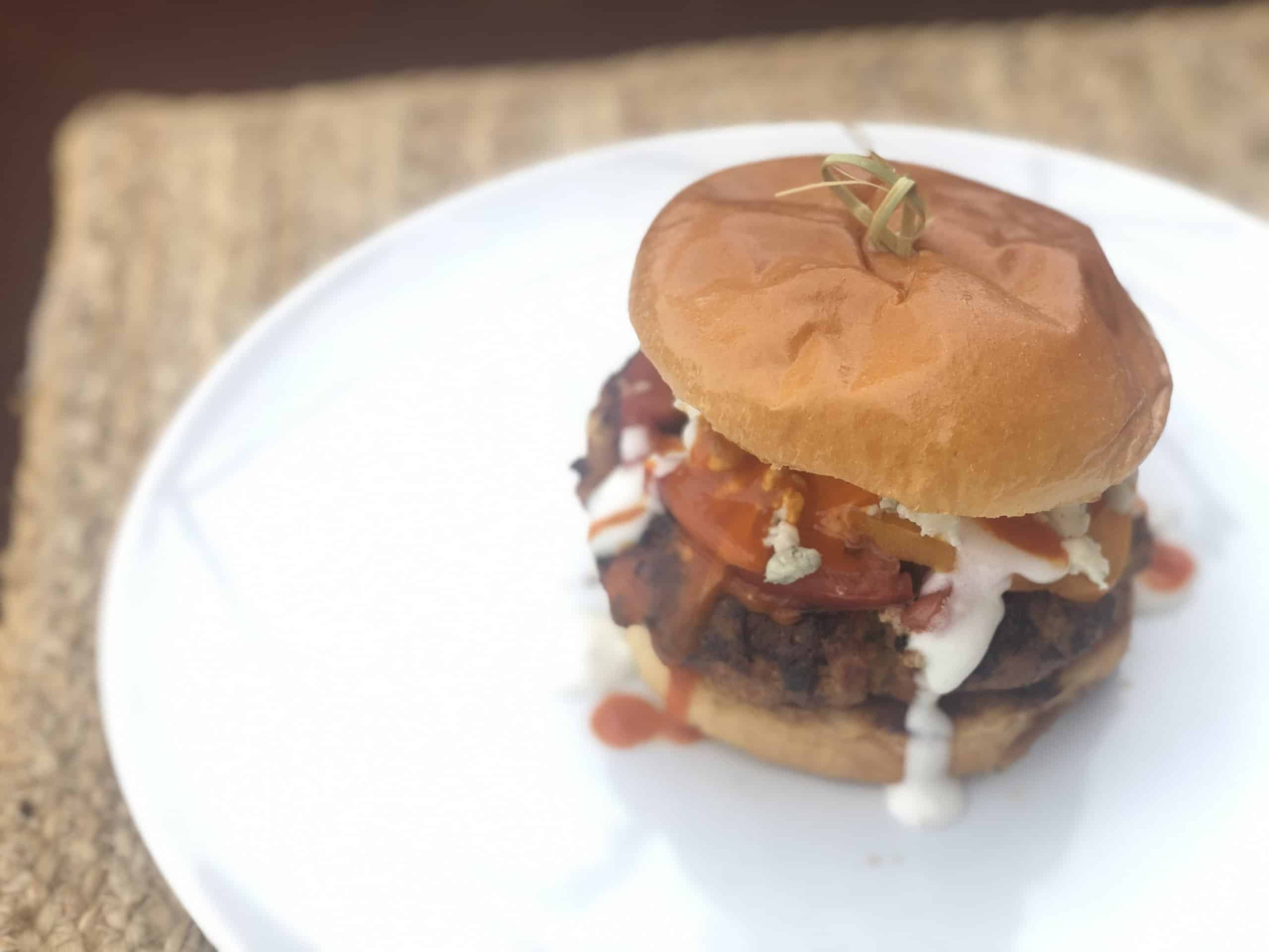How to make buffalo chicken burgers step by step - Sweet Humble Home