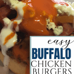 How to make Buffalo Chicken Burgers or family or a crowd. Step by step instructions.