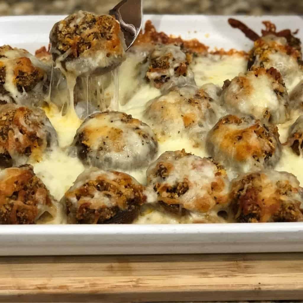 Easy Stuffed Mushrooms - Sweet Humble Home
