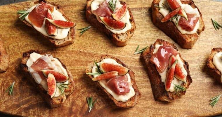 Prosciutto & Fig Bruschetta Appetizer