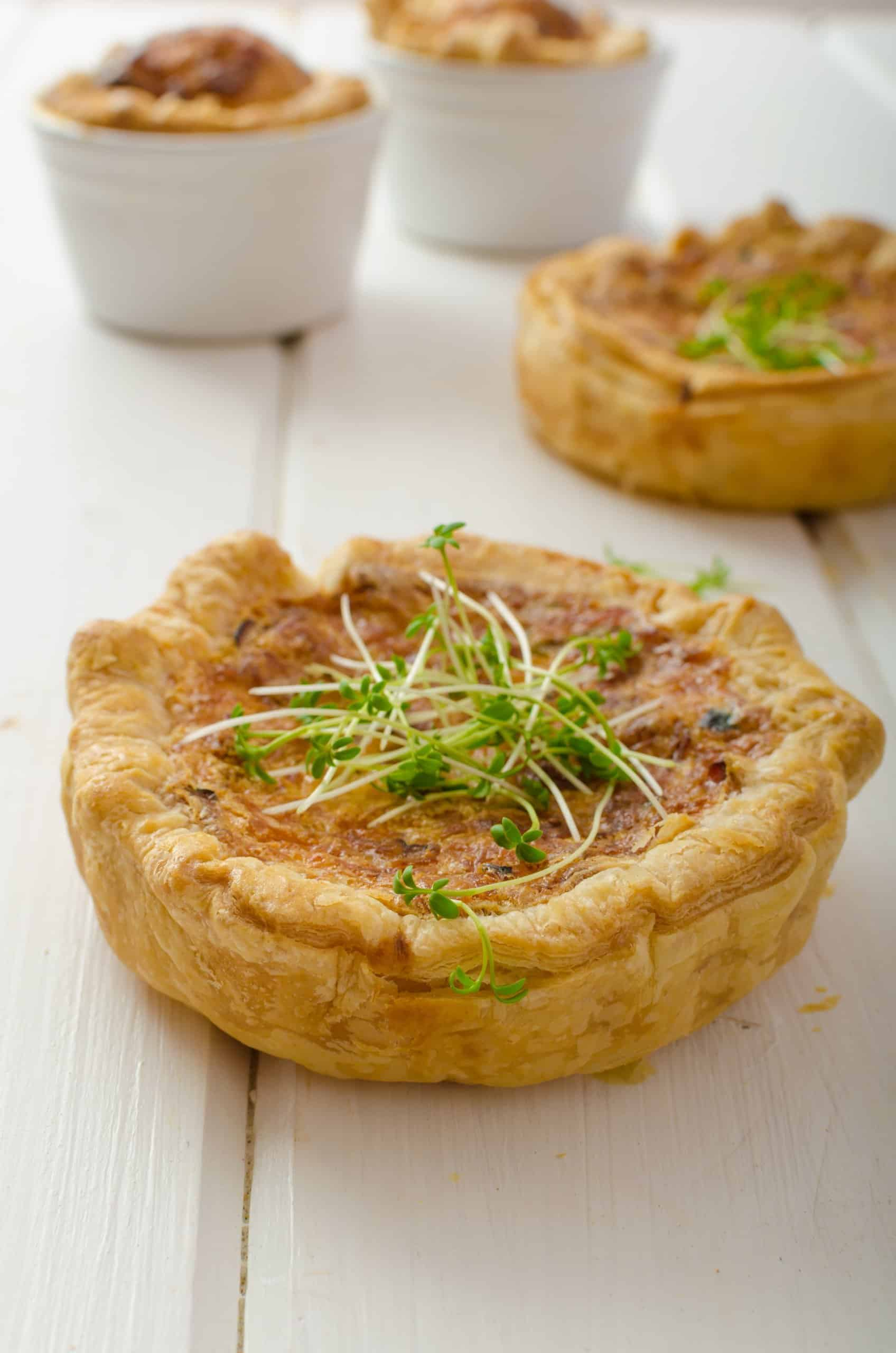 Mini Quiche Appetizers (Onion & Cheese)