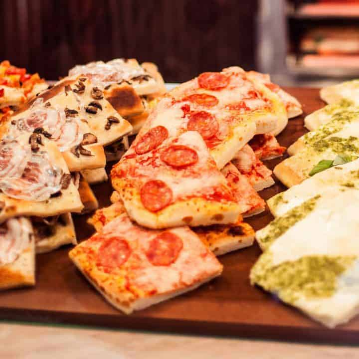 Recipe for easy to make Focaccia Mini Pizzas for entertaining.