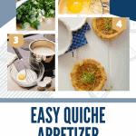 Easy appetizer recipe for Mini Quiche (onion and cheese)