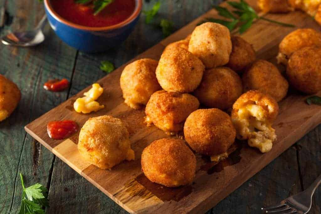 How to make Fried Macaroni & Cheese Balls with leftover macaroni and cheese - recipe
