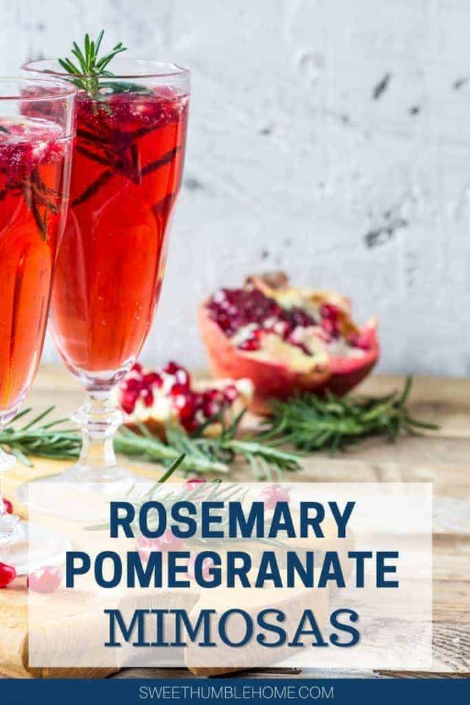 How to make a Pomegranate Mimosa - Easy Holiday Cocktail