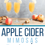 Recipe for how to make an apple cider mimosa.