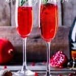 Recipe for Rosemary Pomegranate Mimosa