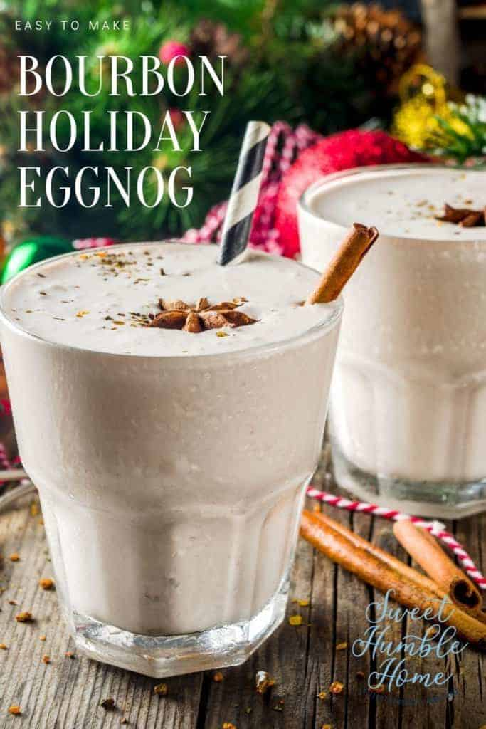 How to make a spiked holiday eggnog with bourbon