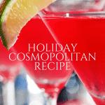 Steps to make a Christmas Cosmopolitan